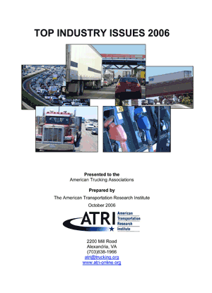 Critical Issues in the Trucking Industry - 2006