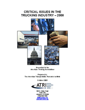 Critical Issues in the Trucking Industry - 2008