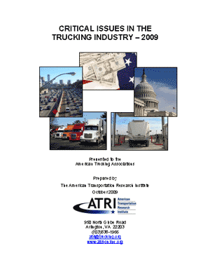 Critical Issues in the Trucking Industry - 2009