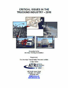 Critical Issues in the Trucking Industry - 2010