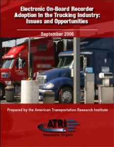 Electronic On-Board Recorder Adoption in the Trucking Industry: Issues and Opportunities