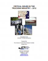 Critical Issues in the Trucking Industry - 2012