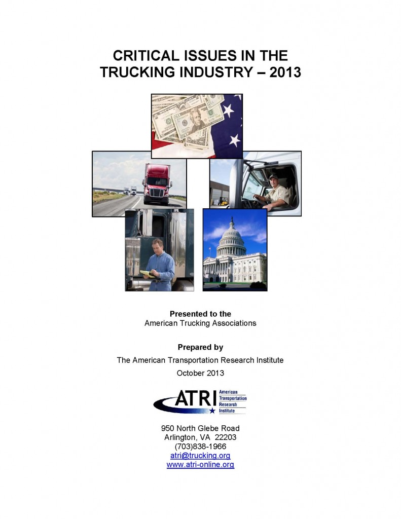 ATRI 2013 Top Industry Issues Report Cover