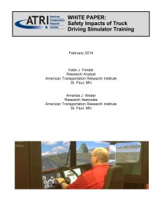 ATRI Safety Impacts of Driving Simulator Training 02 2014