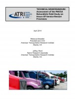 ATRI Technical Memorandum on the FMCSA Field Study
