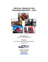 Critical Issues in the Trucking Industry - 2015