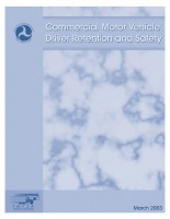 Commercial Motor Vehicle Driver Retention and Safety