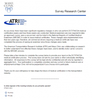 ATRI and Mayo Clinic Survey - Driver Medical Exam Process