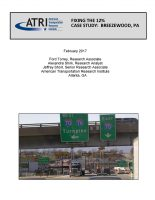 Fixing the 12% Case Study: Breezewood, PA