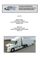 ATRI Research Finds Truck Operations and Safety Have Been Impacted by 34-Hour Restart Provisions