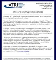 ATRI Posts New Truck Parking Studies