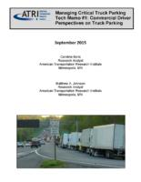 ATRI Research Examines Commercial Driver Views on Critical Truck Parking Issues
