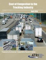 Trucking Industry Congestion Costs Top $49.6 Billion in 2014