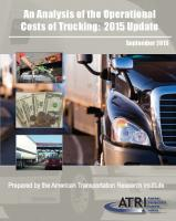 An Analysis of the Operational Costs of Trucking: 2015 Update