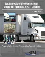 An Analysis of the Operational Costs of Trucking: A 2011 Update
